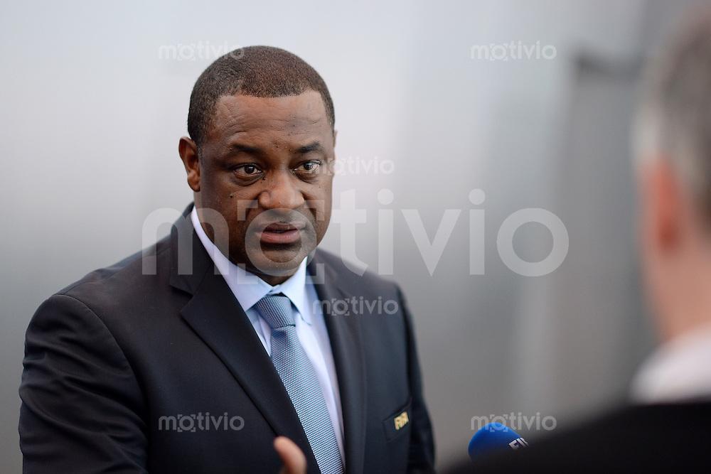 Fussball International FIFA   12.09.2013 Sitzung FIFA Task Force gegen Rassismus und Diskriminierung Vorsitzender und FIFA Vizepraesident Jeffrey WEBB (Cayman-Inseln, FIFA-Exekutivkomitee) beim Pressegespraech