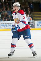 KELOWNA, CANADA - NOVEMBER 7:  Cody Corbett #2 of the  Edmonton Oil Kings skates on the ice at the Kelowna Rockets on November 7, 2012 at Prospera Place in Kelowna, British Columbia, Canada (Photo by Marissa Baecker/Shoot the Breeze) *** Local Caption ***