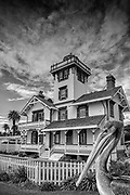 Point Fermin Lighthouse Historic Site and Museum, Port of Los Angeles, San Pedro. CA. Southern California,