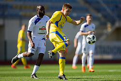 Players of NK Domzale during football match between NK Domzale and NK Celje in Round #20 of Prva liga Telekom Slovenije 2017/18, on April 18, 2018 in Sports Park Domzale, Domzale, Slovenia. Photo by Urban Urbanc / Sportida