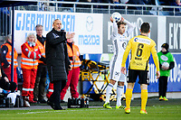 Fotball , Tippeligaen , Eliteserien<br /> 05.04.17 , 20170405<br /> Sandefjord - Rosenborg<br /> Sandefjords trener , Lars Bohinen <br /> Pau Vicente Morer - Sandefjord <br /> Vegar Eggen Hedenstad - RBK<br /> Foto: Sjur Stølen / Digitalsport