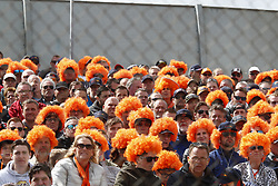 May 13, 2018 - Barcelona, Spain - Motorsports: FIA Formula One World Championship 2018, Grand Prix of Spain, . Fans of #33 Max Verstappen (NLD, Aston Martin Red Bull Racing) (Credit Image: © Hoch Zwei via ZUMA Wire)