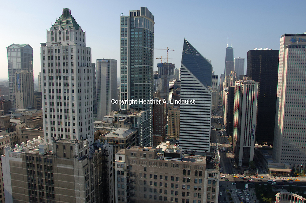 View from Willoughby Tower on Michigan Avenue