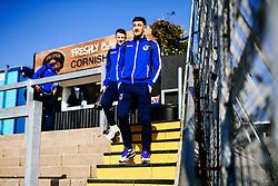 Tom Lockyer looks on as Bristol Rovers players arrive at the ground - Rogan/JMP - 23/02/2019 - FOOTBALL - Memorial Stadium - Bristol, England - Bristol Rovers v Sunderland - EFL Sky Bet League One.