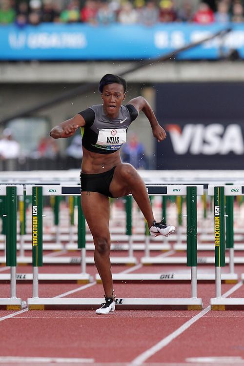 Olympic Trials Eugene 2012: women's 100 meter hurdles, Kellie Wells, Olympian