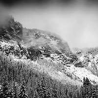 Clearing storm in Avoriaz, Morzine, French Alps