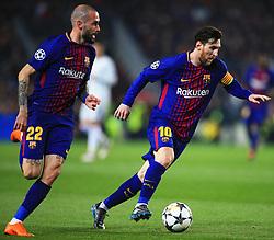 Aleix Vidal overlaps past Lionel Messi of Barcelona - Mandatory by-line: Matt McNulty/JMP - 14/03/2018 - FOOTBALL - Camp Nou - Barcelona, Catalonia - Barcelona v Chelsea - UEFA Champions League - Round of 16 Second Leg