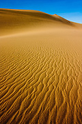 Patterns on sand dunes in Death Valley National Park, California