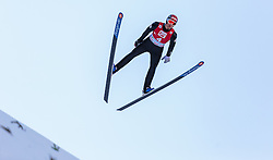 20.12.2015, Nordische Arena, Ramsau, AUT, FIS Weltcup Nordische Kombination, Skisprung, im Bild David Pommer (AUT) // David Pommer of Austria during Skijumping Qualification of FIS Nordic Combined World Cup, at the Nordic Arena in Ramsau, Austria on 2015/12/20. EXPA Pictures © 2015, PhotoCredit: EXPA/ JFK