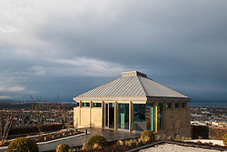 Edinburgh, Scotland, UK. 21 November, 2018. The historic City Observatory on Calton Hill will reopen as The Collective, an arts organisation and will feature the restored City Observatory, City Dome, and a purpose-built exhibition space as well as The Lookout , a new restaurant run by The Gardener's Cottage owners. It opens to the public on 24 November, 2018. Pictured, The Lookout Restaurant.