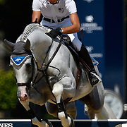 03.08.2018 The Longines Global Champions Tour Show jumping at The Royal Hospital Chelsea London UK Global Champions League of London for teams CS15 Competition in 2 phases Christian Kukuk GER riding Colestus