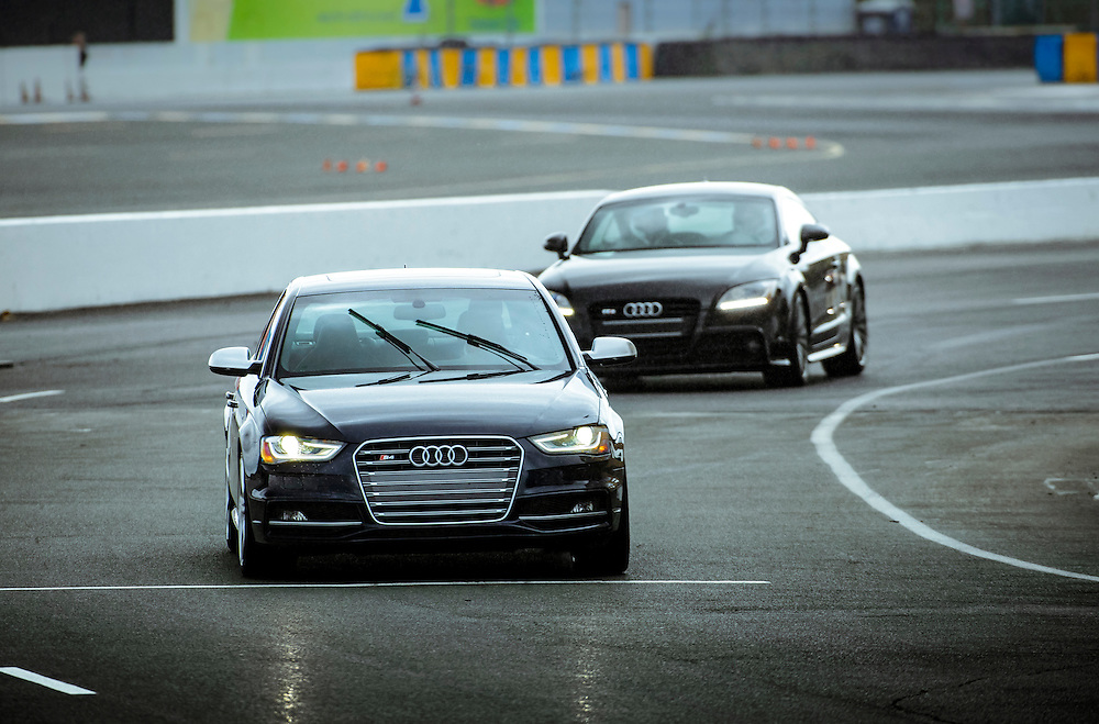 S4 and TTS In The Rain. Turn 12 at Sonoma Raceway | Audi sportscar experience