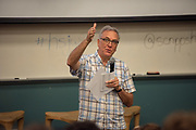 Dr. Robert Stewart, the director of the E.W. Scripps School of Journalismt, speaks to participants of the High School Journalism Workshop. The College of Communications has hosted the workshop every summer since 1946. Photo by Ben Siegel