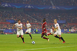 SEVILLE, SPAIN - Tuesday, November 21, 2017: Liverpool's Sadio Mane during the UEFA Champions League Group E match between Sevilla FC and Liverpool FC at the Estadio Ramón Sánchez Pizjuán. (Pic by David Rawcliffe/Propaganda)