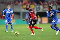 Younousse SANKHARE - 10.01.2015 - Guingamp / Lens - 20eme journee de Ligue 1<br />Photo : Vincent Michel / Icon Sport