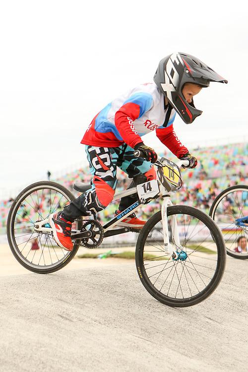 2018 UCI World Championships<br /> Baku, Azerbaijan<br /> 5 &amp; 6 Boys #14 (DIACHENKO Demid) RUS