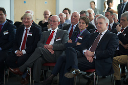 NEWPORT, WALES - Saturday, April 20, 2013: First Minister Carwyn Jones, Laura McAllister (Chair of Sport Wales) and Bob Bright at the opening of the FAW National Development Centre in Newport. (Pic by David Rawcliffe/Propaganda)