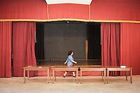 PALERMO, 29 LUGLIO 2015: Il teatro della Parrocchia di Santa Lucia Borgovecchio, a Palermo il 29 luglio 2015.