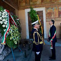 Il Sindaco di Roma  Ignazio Marino commemora Alcide De Gasperi