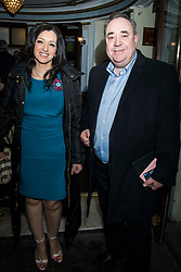 Alex Salmond and Ms Ahmed-Sheikh attend the Beginning press night at the Ambassadors Theatre, London. Picture date: Tuesday 23rd January 2018.  Photo credit should read:  David Jensen/ EMPICS Entertainment
