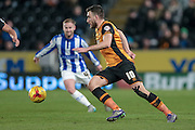 Robert Snodgrass (Hull City) during the Sky Bet Championship match between Hull City and Sheffield Wednesday at the KC Stadium, Kingston upon Hull, England on 26 February 2016. Photo by Mark P Doherty.