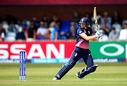 Heather Knight of England Women plays a cut shot - Mandatory by-line: Robbie Stephenson/JMP - 12/07/2017 - CRICKET - The County Ground Derby - Derby, United Kingdom - England v New Zealand - ICC Women's World Cup match 21