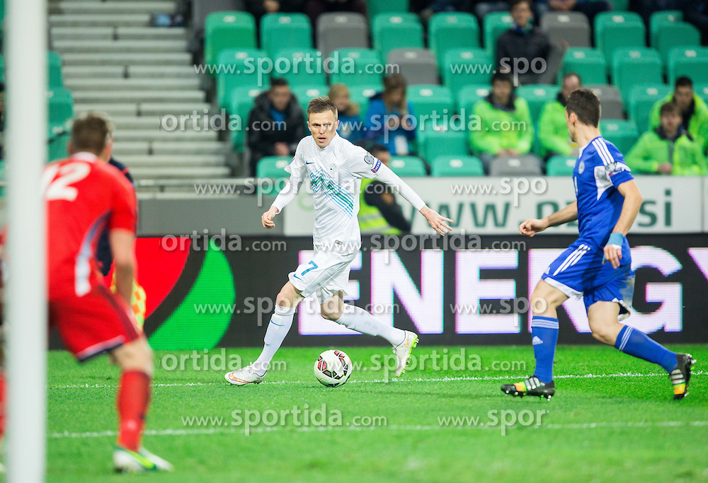 Josip Ilicic of Slovenia during football match between NationalTeams of Slovenia and San Marino in Round 5 of EURO 2016 Qualifications, on March 27, 2015 in SRC Stozice, Ljubljana, Slovenia. Photo by Vid Ponikvar / Sportida