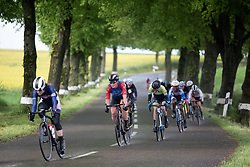 Kirsten Wild (NED) of WNT Rotor Pro Cycling regains contact after a bike change on Stage 1 of 2019 Festival Elsy Jacobs, a 107.1 km road race starting and finishing in Steinfort, Luxembourg on May 11, 2019. Photo by Balint Hamvas/velofocus.com