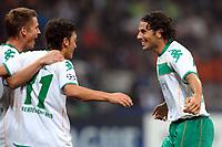 """Claudio Pizarro (Werder) celebrates scoring<br /> Esultanza dopo il gol<br /> Milano 01/10/2008 Stadio """"Giuseppe Meazza"""" <br /> Champions League 2008/2009<br /> Inter Werder Bremen (1-1)<br /> Foto Andrea Staccioli Insidefoto"""