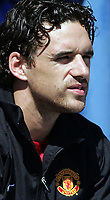 Photo: Paul Thomas.<br />Peterborough United v Manchester United. Pre Season Friendly. 04/08/2007.<br /><br />New signing Owen Hargreaves (L) of Utd starts from the bench.