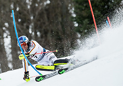 "Fritz Dopfer (GER) competes during 1st Run of FIS Alpine Ski World Cup 2017/18 Men's Slalom race named ""Snow Queen Trophy 2018"", on January 4, 2018 in Course Crveni Spust at Sljeme hill, Zagreb, Croatia. Photo by Vid Ponikvar / Sportida"