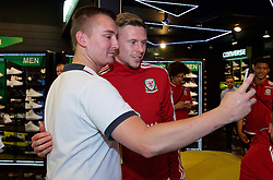 CARDIFF, WALES - Thursday, June 2, 2016: Wales' Simon Church during a visit to a JD Sports store in Llantrisant. (Pic by Ian Cook/Propaganda)