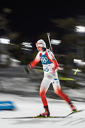 February 12, 2018 - Pyeongchang, Gangwon, South Korea - Monika Hojnisz of Poland competing at Women's 10km Pursuit, Biathlon, at olympics at Alpensia biathlon stadium, Pyeongchang, South Korea. on February 12, 2018. Ulrik Pedersen/Nurphoto  (Credit Image: © Ulrik Pedersen/NurPhoto via ZUMA Press)