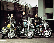 Portrait of a group of Harley Davidson Bikers<br /> Photography by Zac Macaulay<br /> Tel 0044 07947 884 517<br /> www.linkphotographers.com