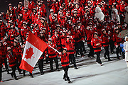 07.02.2014. Sochi, Russia. Opening Ceremonies for the XXII Olympic Winter Games Sochi 2014. FISHT Stadium, Adler/Sochi, Russia. Members of Canada delegation parade into the stadium