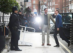 © London News Pictures. 06/12/2012. London, UK.  Prince William arriving at King Edward VII Hospital  in London on December 06, 2012  to visiting The Duchess Of Cambridge, Kate Middleton who is currently being treated for a type of severe morning sickness called hyperemesis gravidarum. The royal couple announced the pregnancy on Monday. Photo credit: Ben Cawthra/LNP