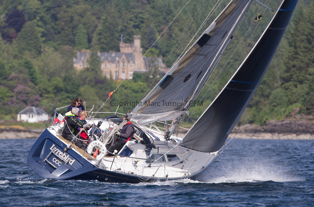 Silvers Marine Scottish Series 2017<br /> Tarbert Loch Fyne - Sailing<br /> <br /> 1302C, Lyrebird, Clive Reeves, CCC<br /> <br /> Credit: Marc Turner / CCC