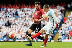 England's Jamie Vardy fires a shot at goal  - Mandatory byline: Matt McNulty/JMP - 07966386802 - 22/05/2016 - FOOTBALL - Etihad Stadium -Manchester,England - England v Turkey - International Friendly