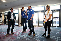 Ben Breeze hosts a Pre Match Q&A in the Heineken Lounge with Bristol Rugby Players Ross McMillan and Ian Evans as well as Bristol Ladies and England 7's player Amy Wilson-Hardy - Mandatory byline: Rogan Thomson/JMP - 07966 386802 - 06/09/2015 - RUGBY UNION - Ashton Gate Stadium - Bristol, England - Bristol Rugby v Bedford Blues - Greene King IPA Championship.