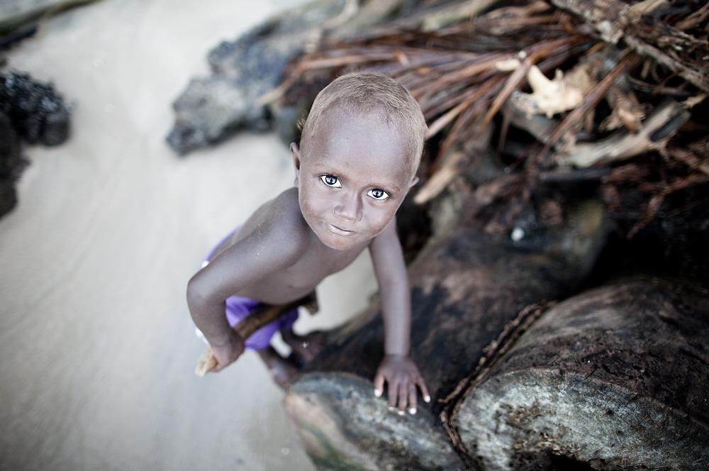 A young boy on Tetapare