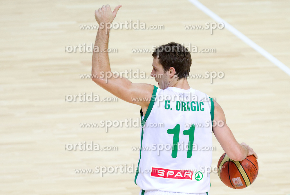 Goran Dragic of Slovenia during basketball match between National teams of Slovenia and Georgia in Group D of Preliminary Round of Eurobasket Lithuania 2011, on September 3, 2011, in Arena Svyturio, Klaipeda, Lithuania. Slovenia defeated Georgia 87-75. (Photo by Vid Ponikvar / Sportida)