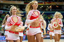 Cheerleaders Red Foxes during basketball game between National basketball teams of Germany and Turkey at FIBA Europe Eurobasket Lithuania 2011, on September 9, 2011, in Siemens Arena,  Vilnius, Lithuania.  (Photo by Vid Ponikvar / Sportida)