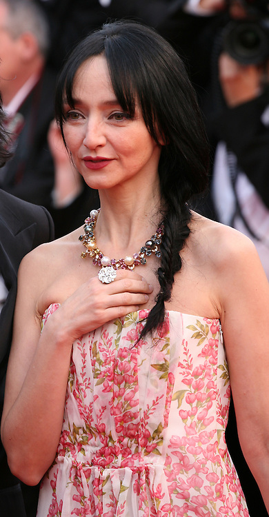 Maria De Medeiros at the gala screening of the film De rouille et d'os at the 65th Cannes Film Festival. Thursday 17th May 2012, the red carpet at Palais Des Festivals in Cannes, France.