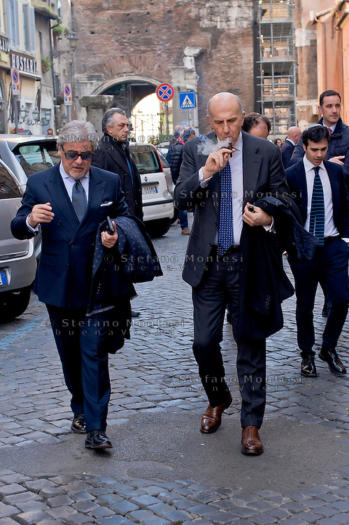 Roma 9 Marzo 2015<br /> Il capo della polizia Alessandro Pansa in visita, al Ghetto ebraico di Roma con il questore di Roma  Nicolò D'Angelo  per fare il punto sulla situazione della sicurezza e minaccia del terrorismo con Riccardo Pacifici, Presidente della comunità ebraica di Roma e il presidente dell'Ucei, l'Unione delle Comunità ebraiche italiane, Renzo Gattegna. Nella foto : Alessandro Pansa , Nicolò D'Angelo<br /> Rome, March 9, 2015<br /> The police chief Alessandro Pansa visiting the Jewish Ghetto of Rome with the Chief of Police of Rome  Nicolò D'Angelo to take stock of the security situation and the threat of terrorism with Riccardo Pacifici, president of Rome's Jewish community and the president of 'UCEI, the Union of Italian Jewish Communities, Renzo Gattegna. Pictured: Alessandro Pansa , Nicolò D'Angelo