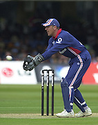 .29/06/2002.Sport - Cricket - .NatWest triangler Series England - Sri Lanka - India.England vs india 50 overs.  Lord's ground.India batting - Alex Stewart..