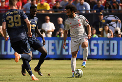 July 28, 2018 - Ann Arbor, MI, U.S. - ANN ARBOR, MI - JULY 28: Liverpool Forward Mohamed Salah (11) in action during the ICC soccer match between Manchester United FC and Liverpool FC on July 28, 2018 at Michigan Stadium in Ann Arbor, MI (Photo by Allan Dranberg/Icon Sportswire) (Credit Image: © Allan Dranberg/Icon SMI via ZUMA Press)