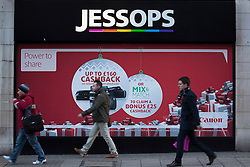 © licensed to London News Pictures. London, UK 09/01/2013. Photography retailer Jessops set to go into administration on 09/01/13 according to reports. More than 200 stores owned by Jessops in the UK, it was announced earlier in the week that several would be closing after not meeting sales targets. Photo credit: Tolga Akmen/LNP