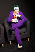 THE ART OF THE BRICK: DC SUPER HEROES <br /> designed by Nathan Sawaya <br /> South Bank, London, Great Britain <br /> 28th February 2017 <br /> <br /> London debut opens on 1st March 2017<br /> <br /> The Joker <br /> Batman <br /> <br /> Together with Warner Bros. and DC Entertainment, Nathan Sawaya has created the world&rsquo;s largest collection of artwork inspired by DC's Justice League, including Batman, Superman, Wonder Woman, alongside DC Super-Villains the Joker, Harley Quinn and more.<br />  <br /> <br />  <br /> THE ART OF THE BRICK: DC SUPER HEROES exhibition includes more than 120 original pieces, created exclusively from LEGO bricks, including a life-size Batmobile (5.5 meters) and built from half a million standard pieces. Sawaya has captured on a real scale some of the most iconic Super Heroes and Super-Villains from DC, exploring more than 80 years of history.<br /> <br /> <br /> <br /> Photograph by Elliott Franks <br /> Image licensed to Elliott Franks Photography Services