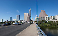 Austin Texas Skyline From Congress Ave. Bridge
