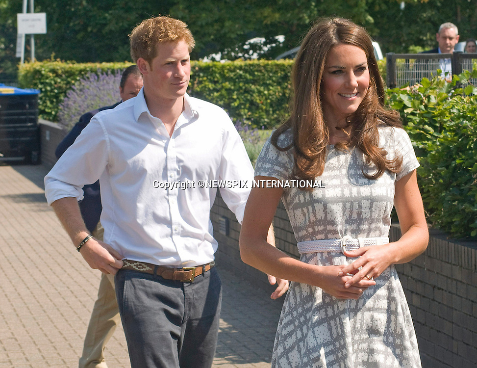 """CATHERINE, DUCHESS OF CAMBRIDGE AND PRINCE HARRY.attend the sports-themed event, to launch the Coach Core programme, a partnership between their Foundation and Greenhouse at Bacon's College, South London_26/07/2012.Mandatory credit photo: ©Dias/NEWSPIX INTERNATIONAL..(Failure to credit will incur a surcharge of 100% of reproduction fees)..                **ALL FEES PAYABLE TO: """"NEWSPIX INTERNATIONAL""""**..IMMEDIATE CONFIRMATION OF USAGE REQUIRED:.Newspix International, 31 Chinnery Hill, Bishop's Stortford, ENGLAND CM23 3PS.Tel:+441279 324672  ; Fax: +441279656877.Mobile:  07775681153.e-mail: info@newspixinternational.co.uk"""